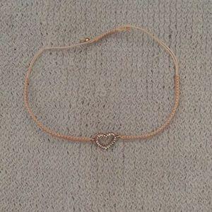 LC Lauren Conrad peach woven cord heart bracelet